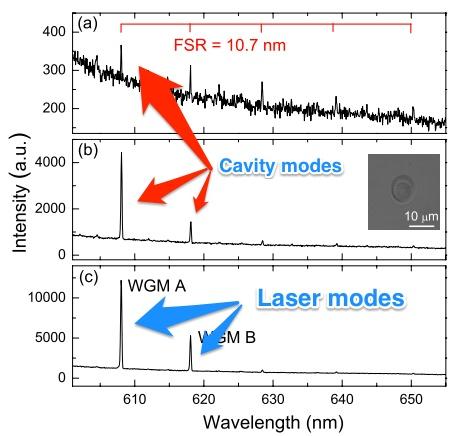 Droplet Laser Modes